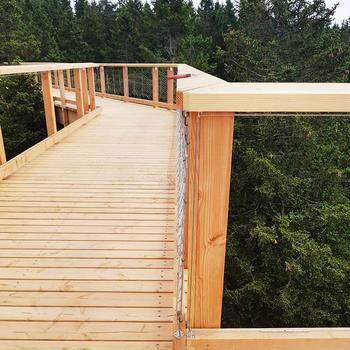 Pedestrian Bridge Safety Net 316 Flexible Stainless Steel Rope Mesh