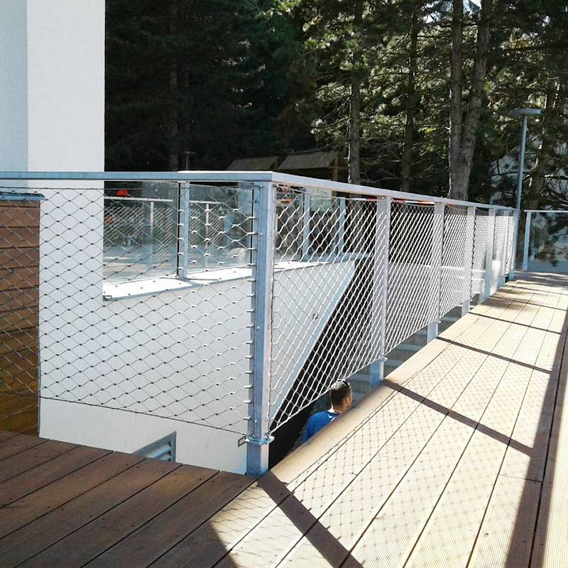 Flexible Stainless Steel Rope Mesh For Safety Balcony Stair Railing.
