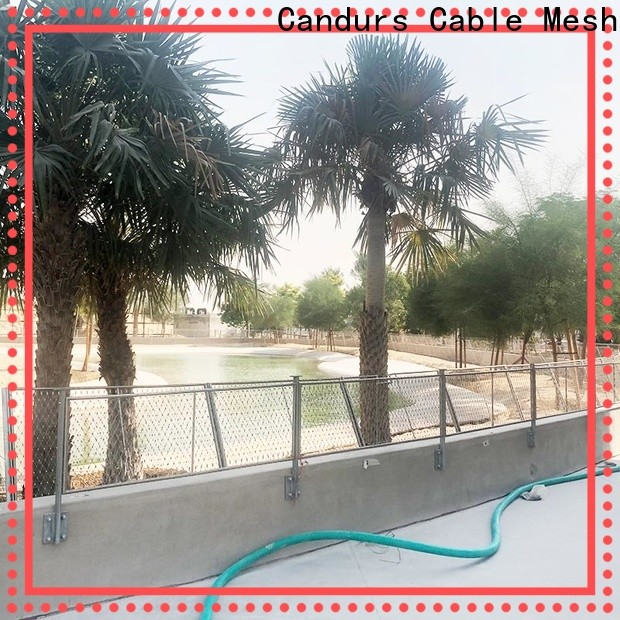 Candurs protective stainless steel bird netting prefabricated manufacturing