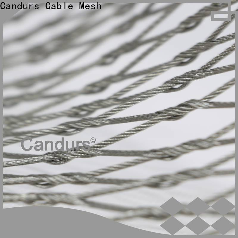 Candurs stainless steel mesh balustrade prefabricated for construction