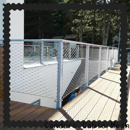 Candurs protective stainless steel mesh balustrade custom bulk supply