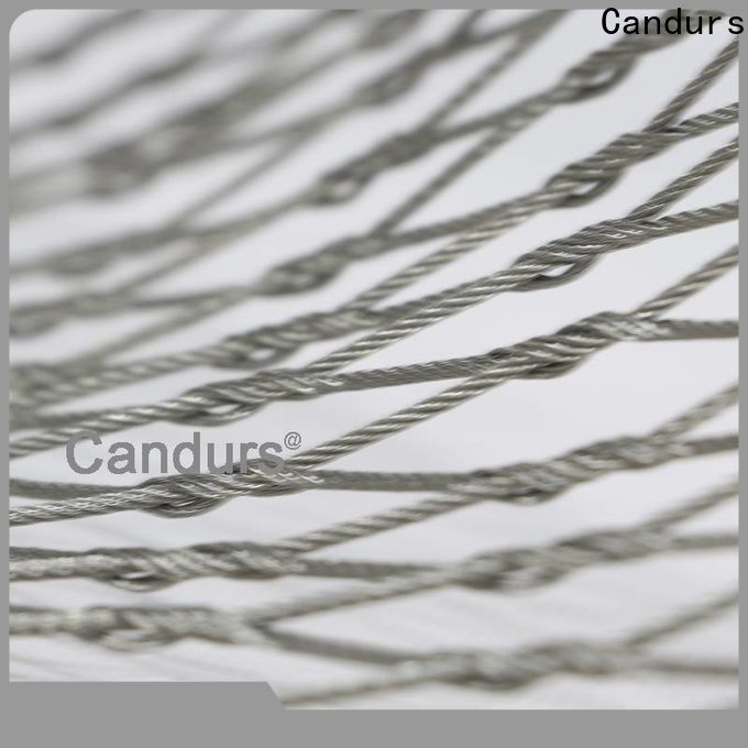 Candurs quality-assured stainless steel mesh balustrade easy-installation manufacturing