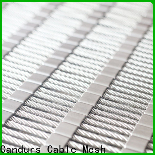 Candurs stainless steel mesh balustrade for construction