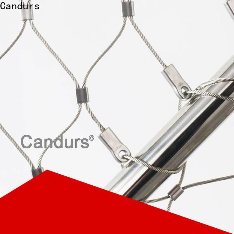 protective stainless steel mesh balustrade easy-installation bulk supply