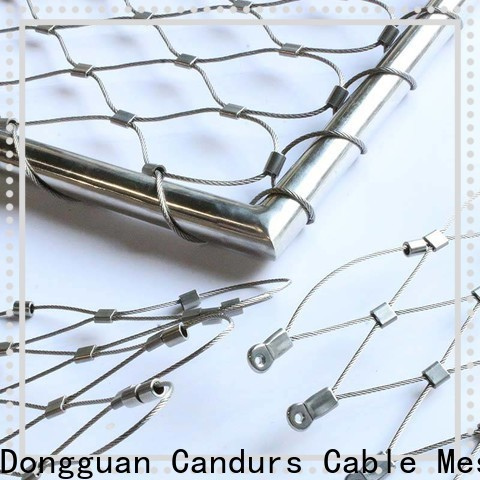 Candurs stainless steel mesh balustrade easy-installation for construction