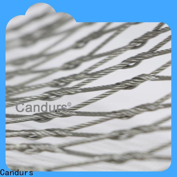 Candurs stainless steel mesh balustrade custom bulk supply