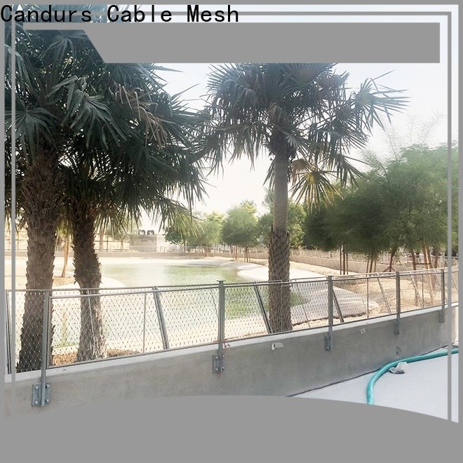 Candurs protective stainless steel mesh balustrade prefabricated factory direct
