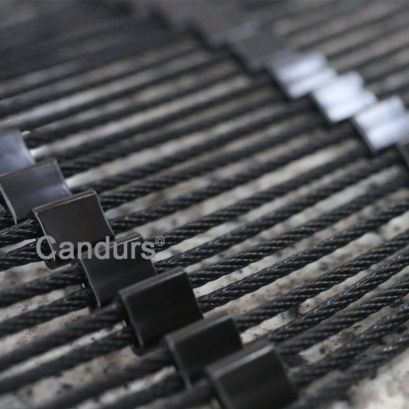 Black Oxidation Stainless Steel Wire Rope Mesh