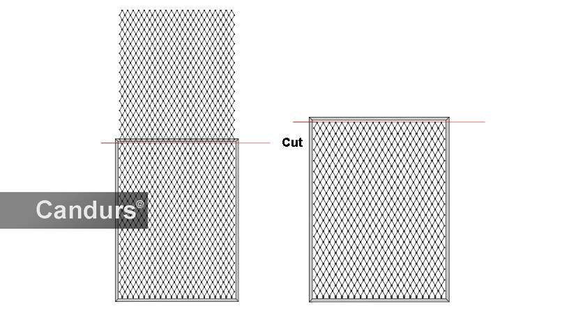 Wire Rope Mesh Cutting