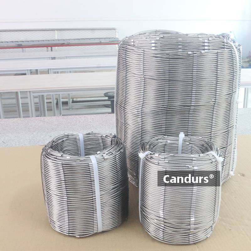 Flexible Stainless Steel Wire Rope Mesh Rolls DIY Cutting