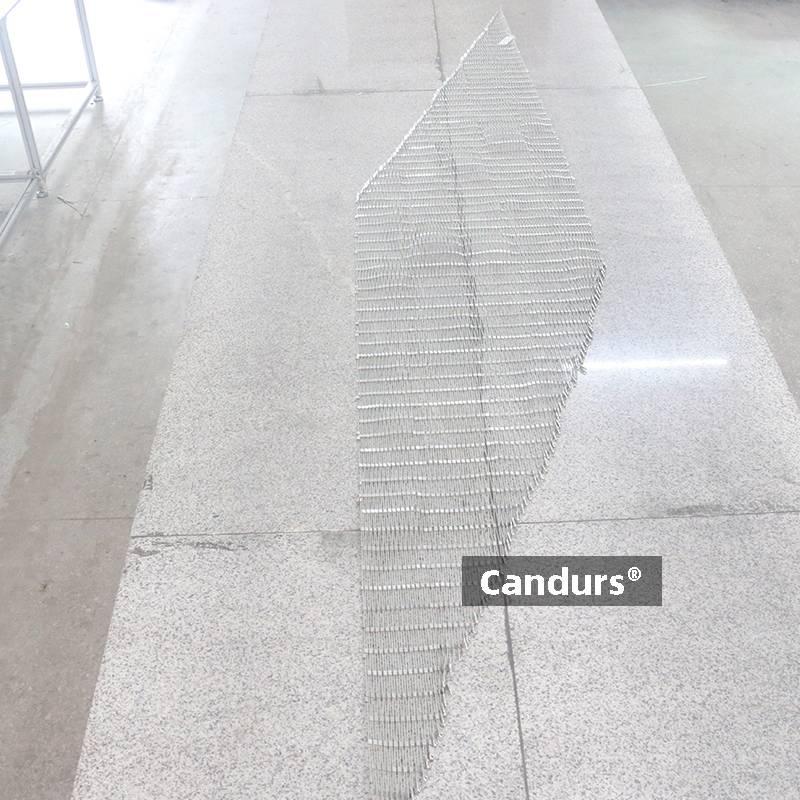 Stair Railing Stainless Steel Rope Mesh Trapezoid Shape Custom CD1540