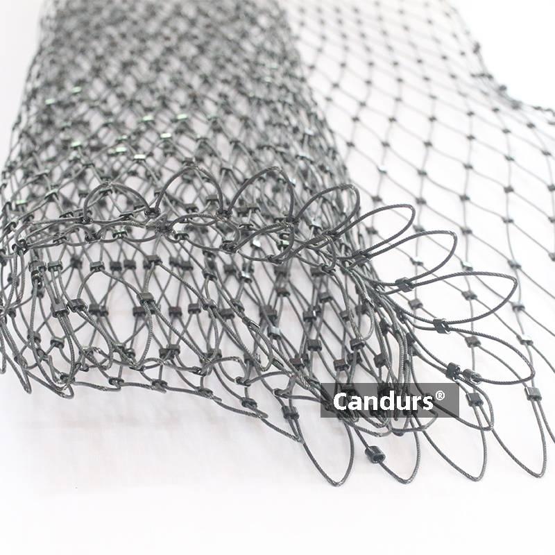 Black Oxide Cable Mesh Railing Mesh Vertical Eyelet 1.5mm x 60mm
