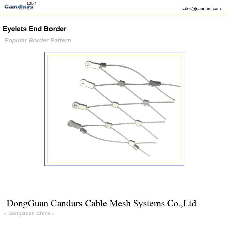 Stainless Steel Rope Mesh Eyelets Border Design