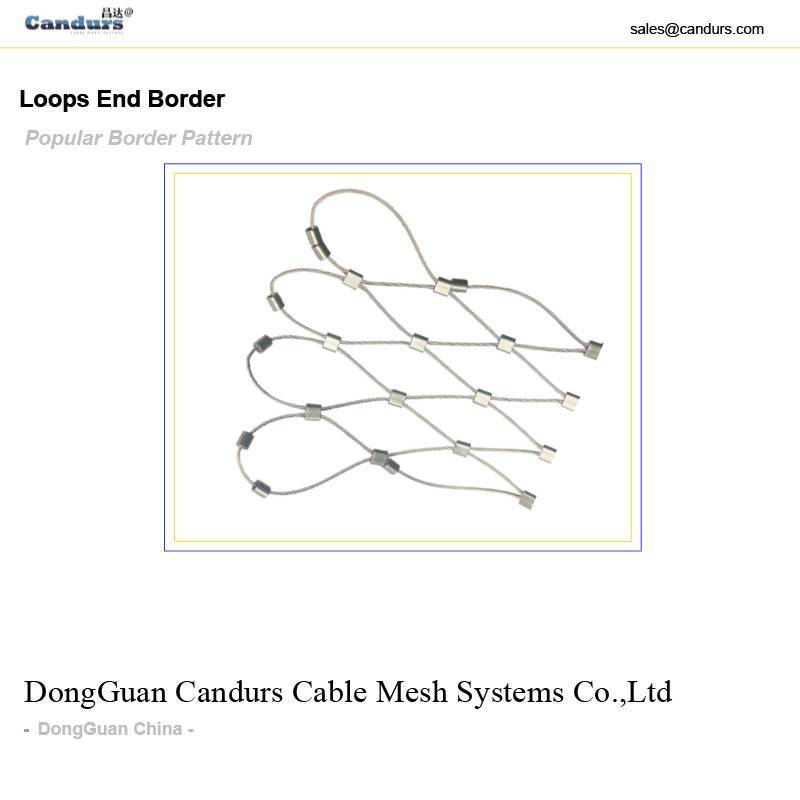 Flexible Stainless Steel Rope Mesh Loops Border Design