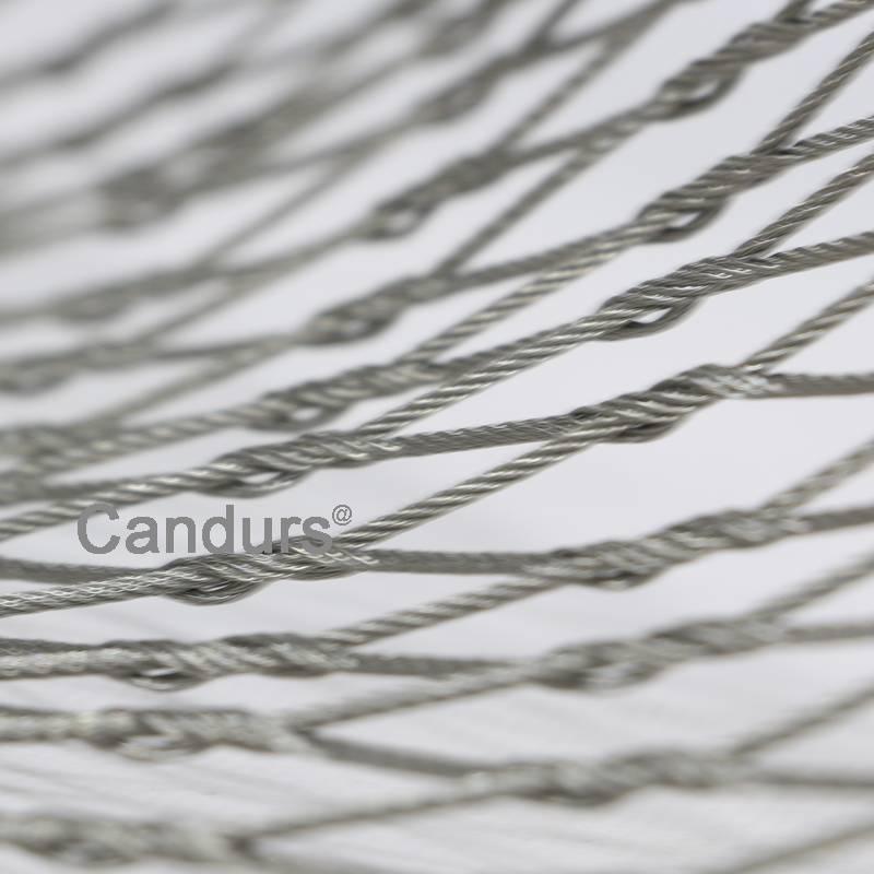 Stainless Steel Zoo Bird Aviary Mesh Rope Mesh Hand Woven Type WD1225